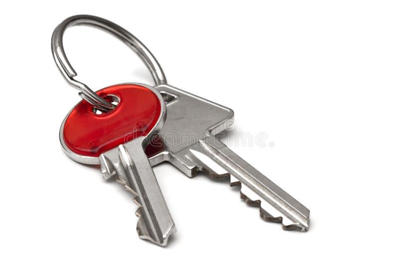 Ключи изолированные на белой предпосылке стоковые фотографии rf