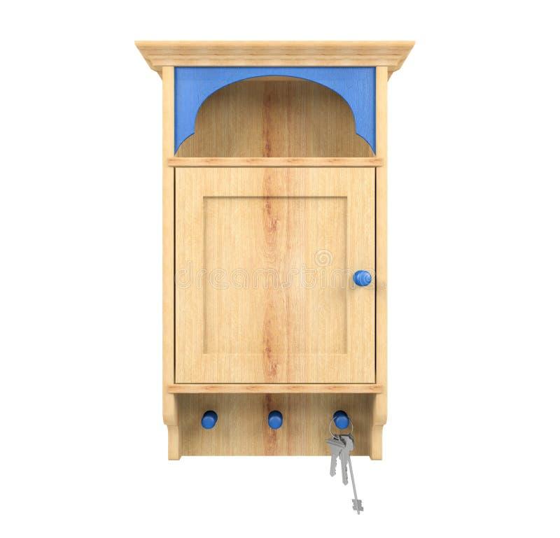 Ключи и деревянная ключевая коробка держателя стоковые изображения