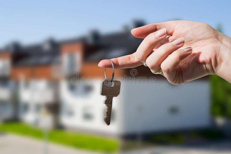 Ключи к новому дому стоковое изображение rf