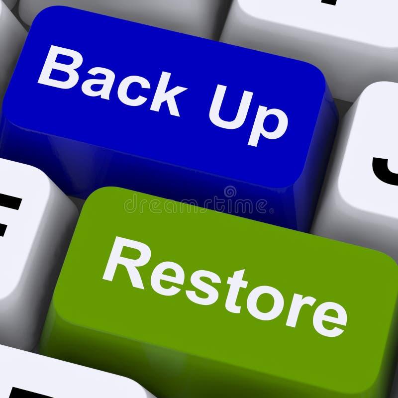 Ключи резервных и восстановления для безопасности данных стоковое изображение rf