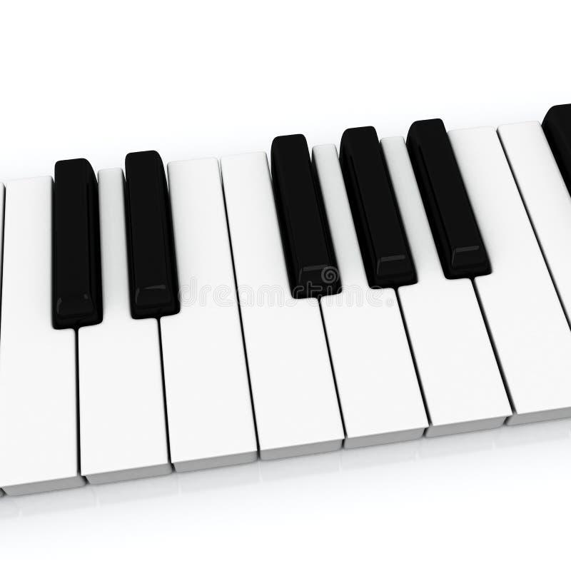 Ключи рояля, 3d иллюстрация штока