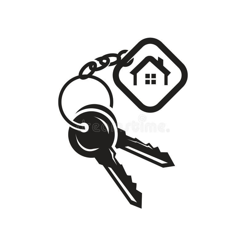 Ключи с значком бирки иллюстрация вектора