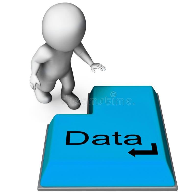 Ключ данных значит данные по и файлы компьютера иллюстрация вектора