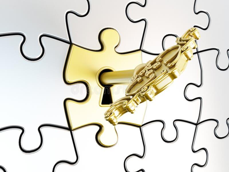 Ключ головоломки стоковые фотографии rf