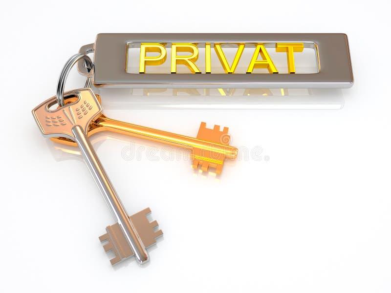 Ключ к частному иллюстрация вектора