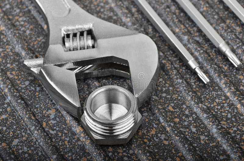 Ключ, паяющ приспособление и отвертку стоковое изображение