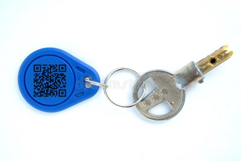 Ключ с пустой биркой стоковое фото