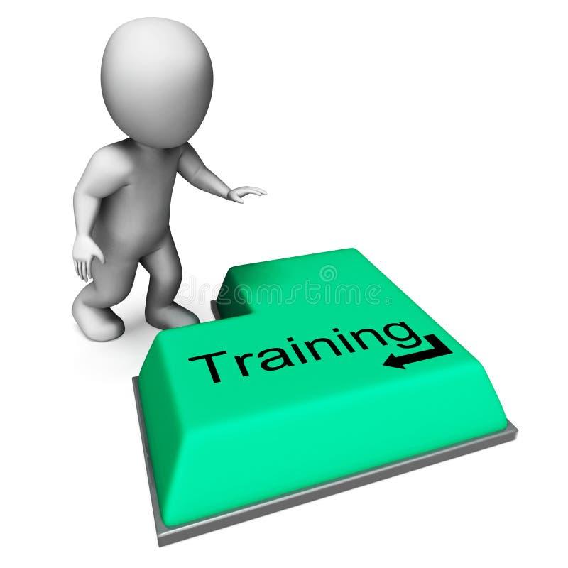 Ключ тренировки показывает образование или курс индукции иллюстрация вектора