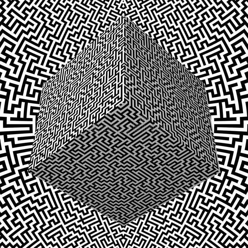 лабиринт блока бесплатная иллюстрация