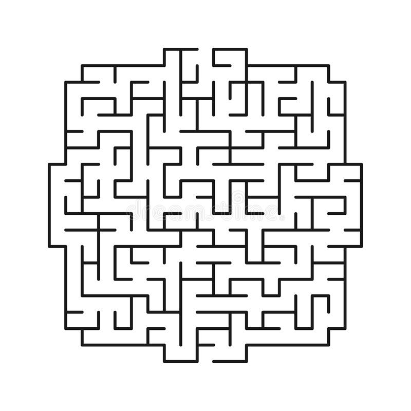 Лабиринт 111 вектора стоковое изображение