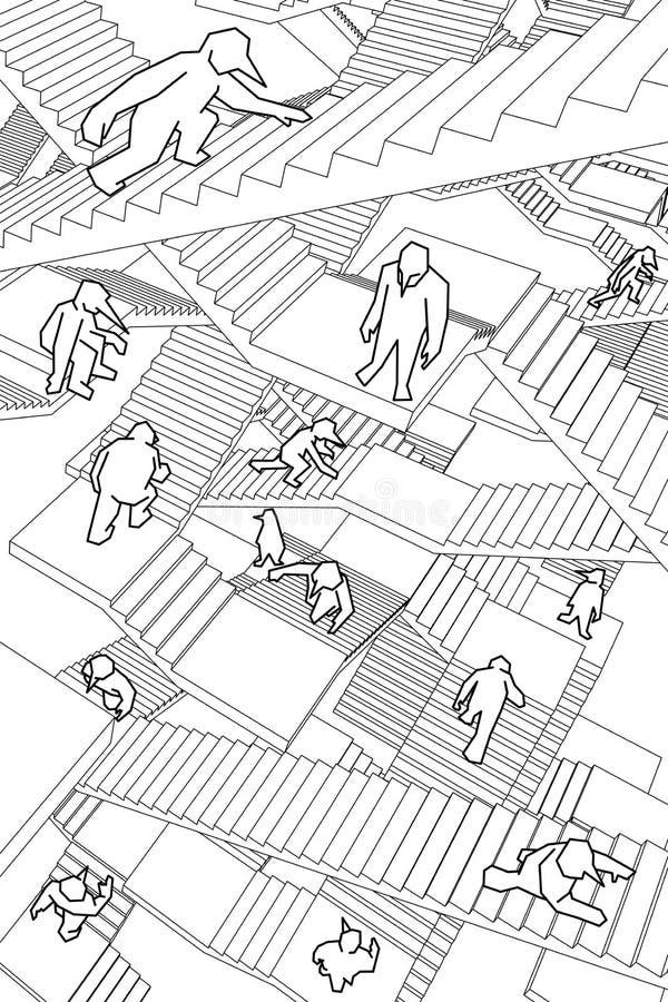 Лабиринт лестниц бесплатная иллюстрация