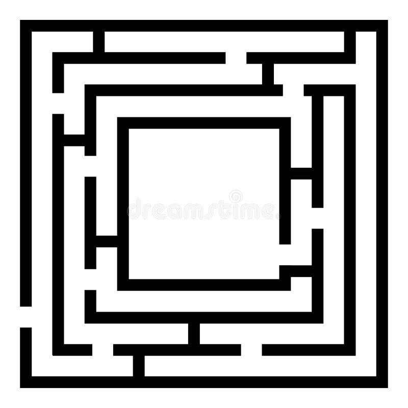 Лабиринт, игра лабиринта детей изолированная на белизне бесплатная иллюстрация