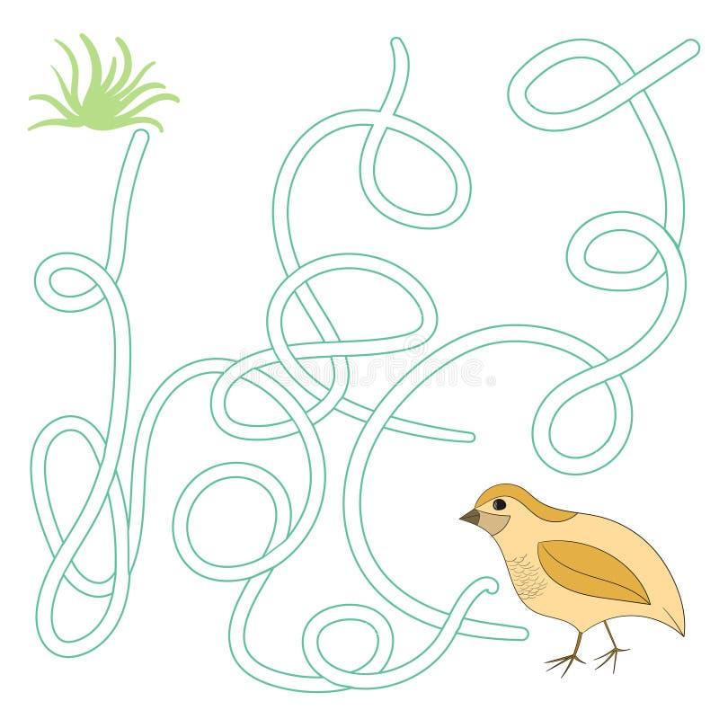 Лабиринт игры находит вектор триперсток пути иллюстрация штока