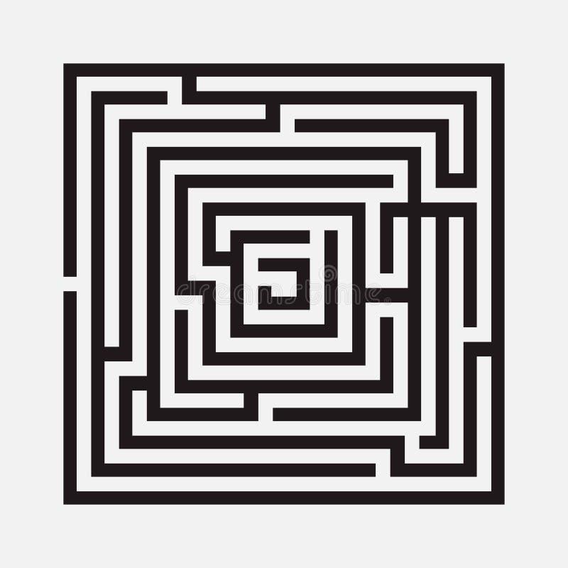 Лабиринт, квадрат бесплатная иллюстрация