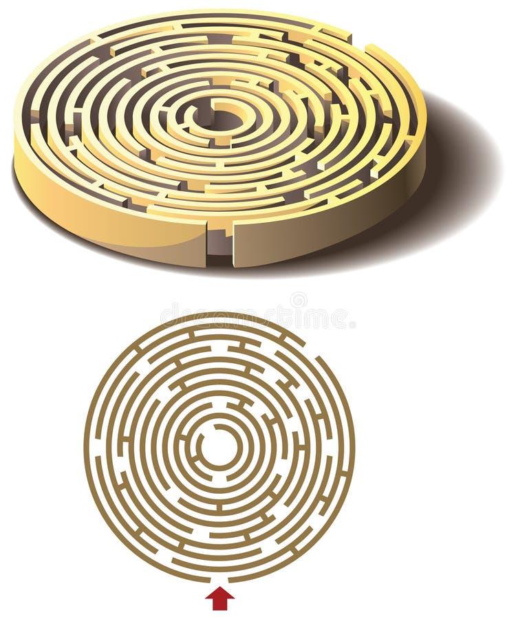 лабиринт круга бесплатная иллюстрация