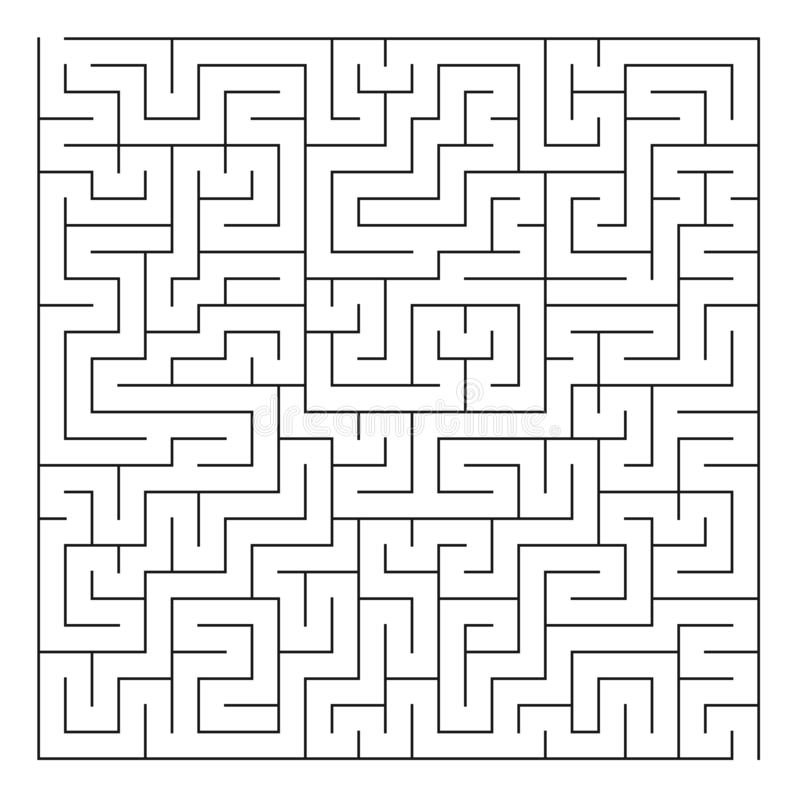 Лабиринт/лабиринт на белой предпосылке иллюстрация штока