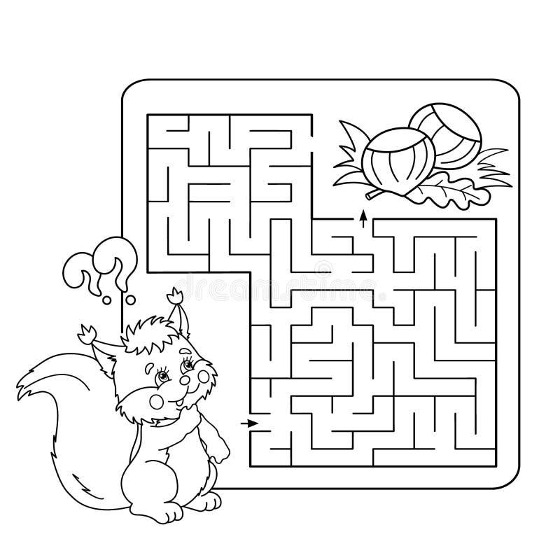 Лабиринт образования или игра лабиринта для детей ...