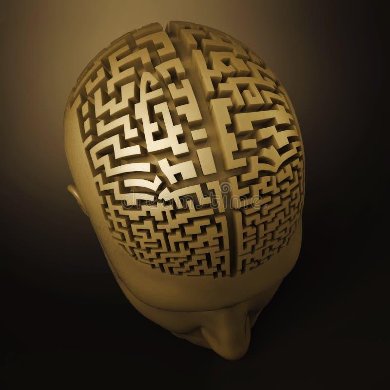 лабиринт человека мозга иллюстрация штока