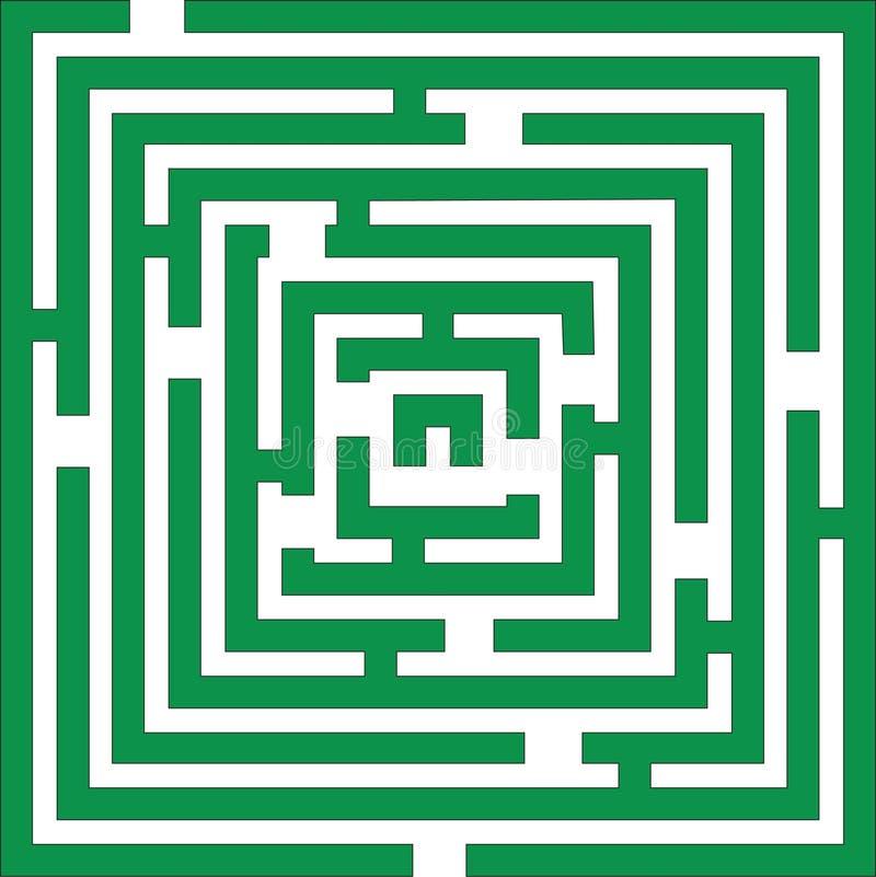 лабиринт 01 цвета иллюстрация вектора