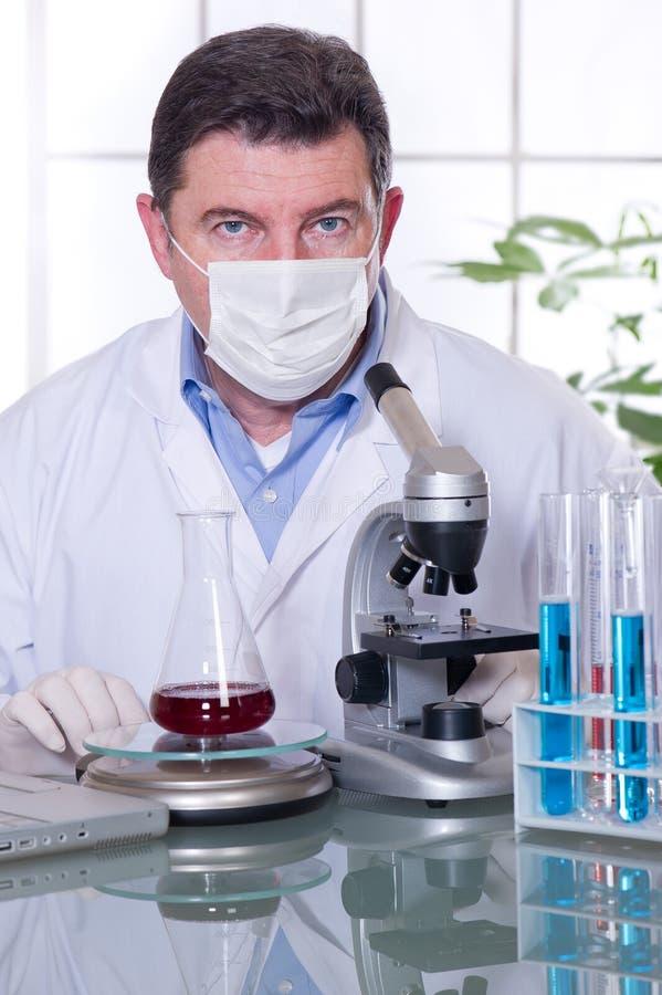 лаборатория доктора стоковое изображение