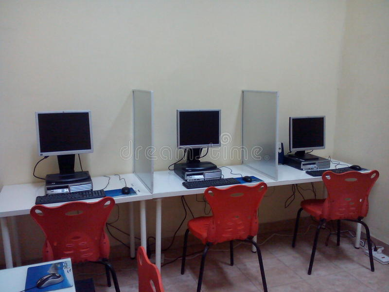 Лаборатория компьютера стоковые изображения rf