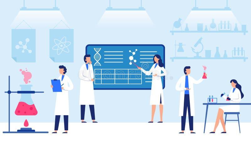 Лаборатория науки Научные оборудования лаборатории, профессиональное научное исследование и вектор работников ученого бесплатная иллюстрация