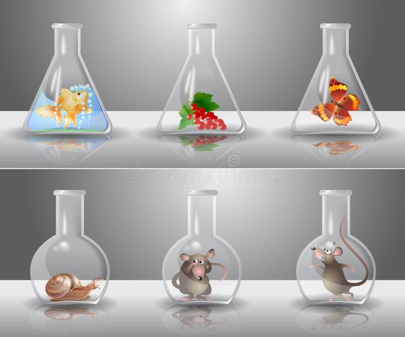 лаборатория склянок иллюстрация штока