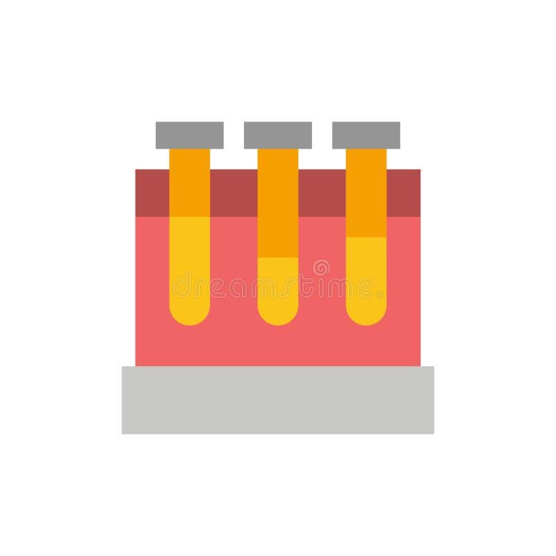 Лаборатория, ушаты, тест, значок цвета образования плоский Шаблон знамени значка вектора бесплатная иллюстрация