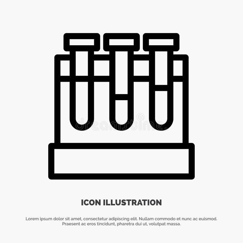 Лаборатория, ушаты, тест, линия вектор образования значка бесплатная иллюстрация
