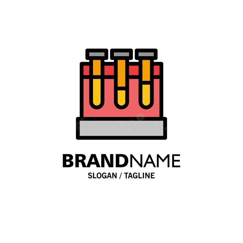 Лаборатория, ушаты, тест, шаблон логотипа образовательного бизнеса r иллюстрация вектора