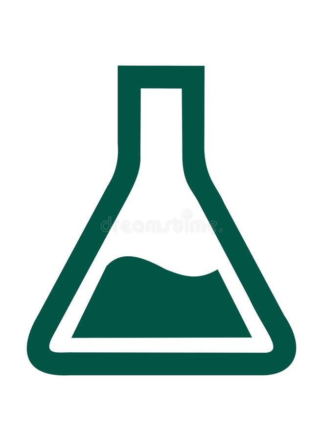 Лаборатория химии фракса Эрленмейера бесплатная иллюстрация