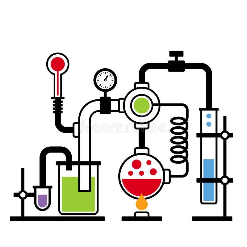 Лаборатория химии Infographic установила 2 иллюстрация штока