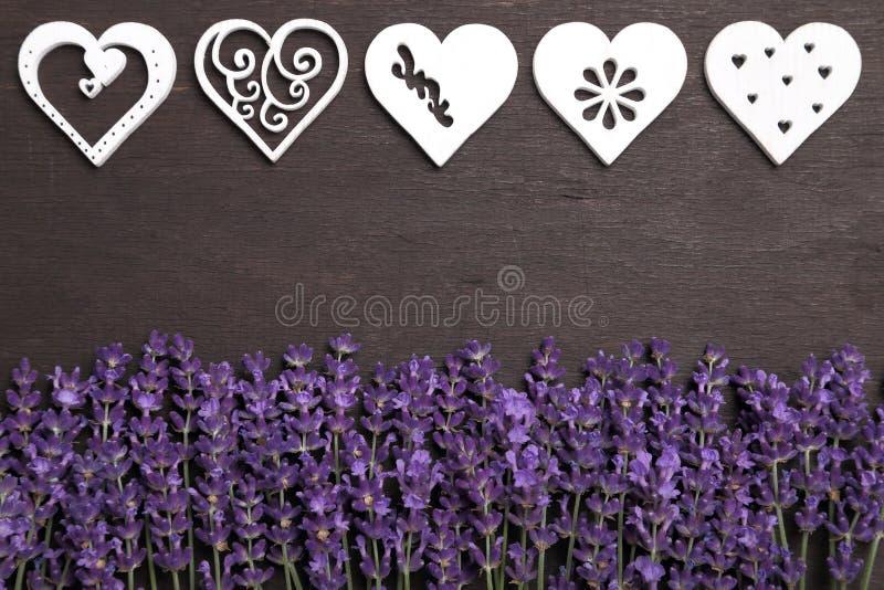 Лаванда и сердца стоковое фото rf