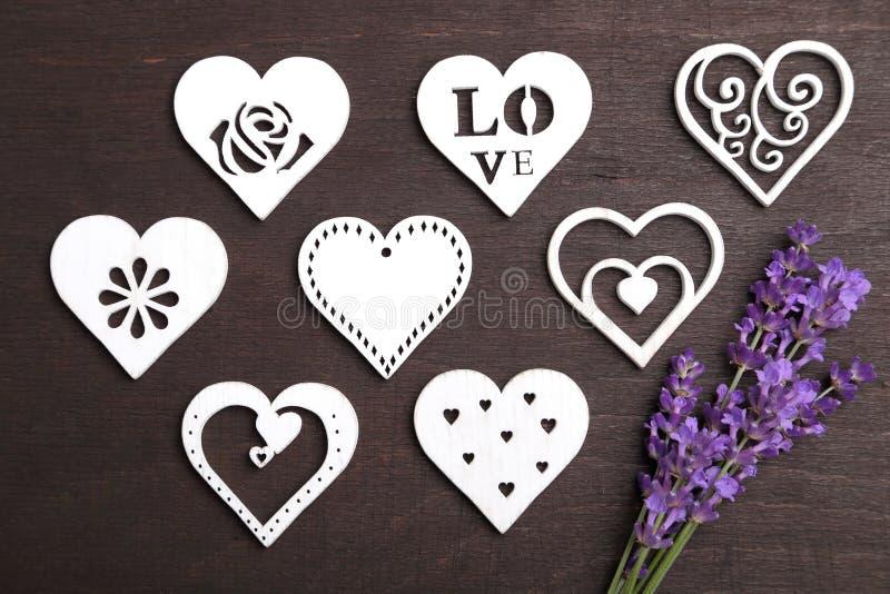 Лаванда и сердце стоковое изображение rf