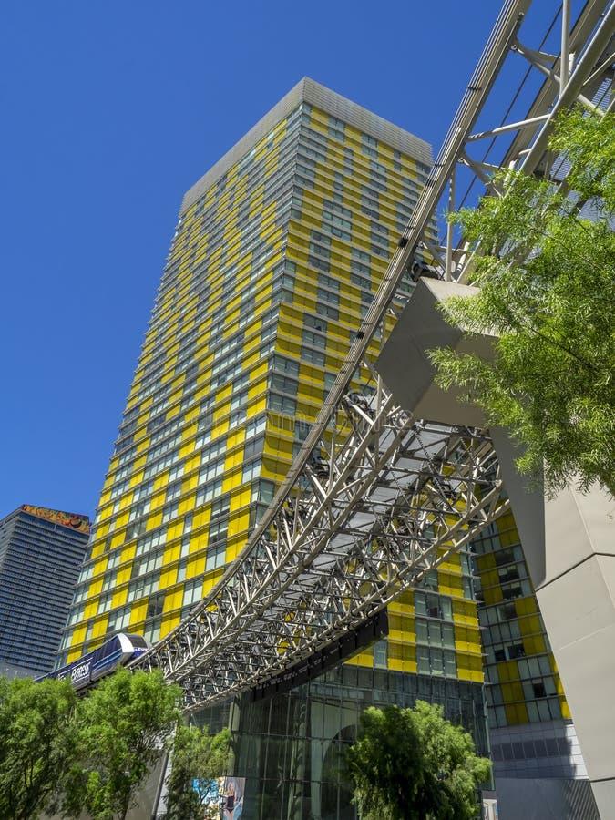 Лавируйте башни на CityCenter в Лас-Вегас стоковое изображение rf