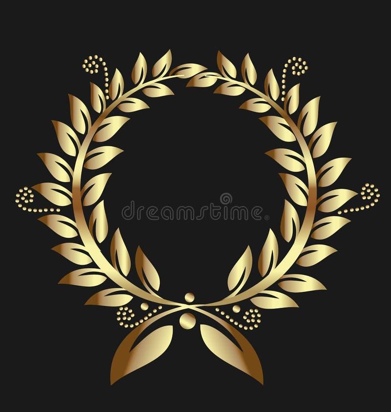 Лавровый венок золота бесплатная иллюстрация