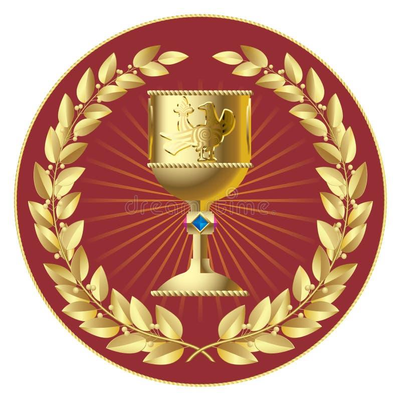 лавры золота чашки иллюстрация штока