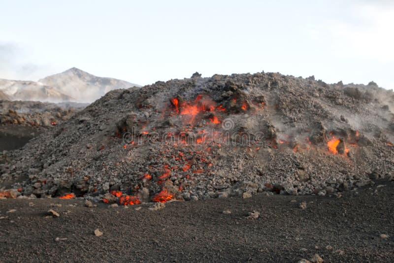 Лагерь лавы на зоре стоковое фото rf
