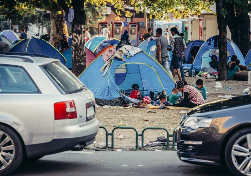 Лагерь беженцев в Белграде стоковые фото