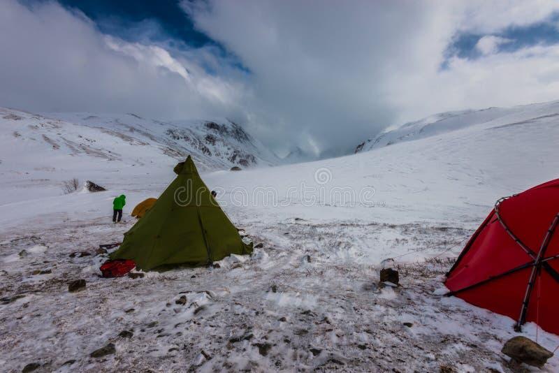 Лагерь зимы стоковая фотография rf