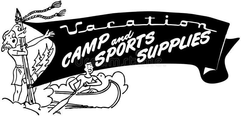 Лагерь каникул и поставки спорт бесплатная иллюстрация