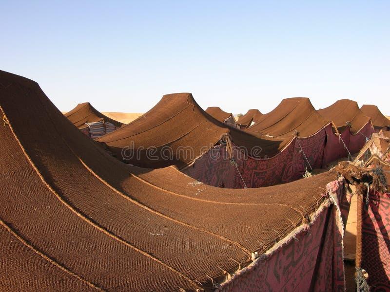 лагерь Марокко бедуина стоковые фотографии rf