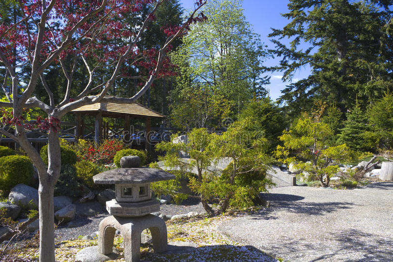 лагерь садовничает спокойствие японца интернирования стоковое фото rf