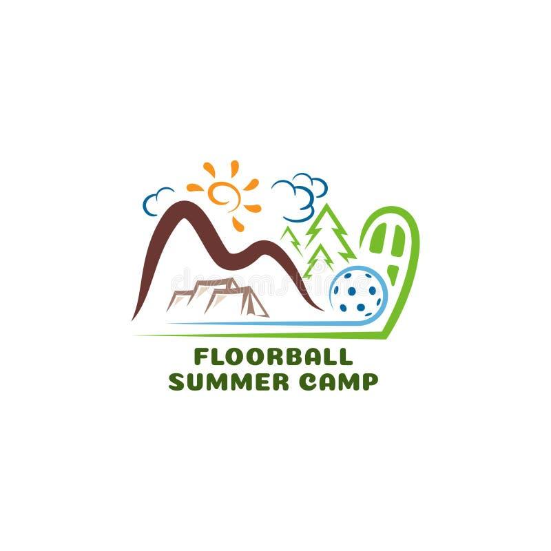 Лагерь floorball логотипа summar Логотип мультфильма потехи бесплатная иллюстрация