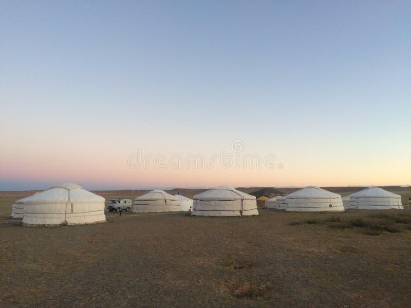 Лагерь Ger Монгол стоковые фотографии rf