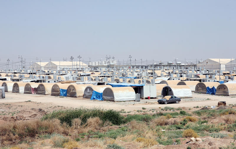Лагерь Kabarto IDP стоковые фотографии rf