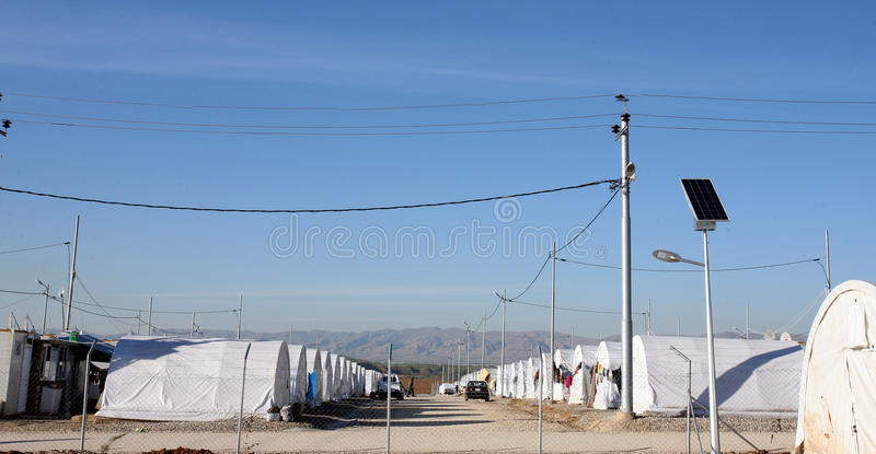 Лагерь Shariya IDP стоковое фото