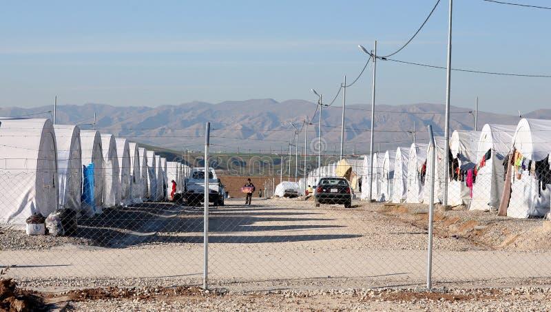 Лагерь Shariya IDP стоковое изображение