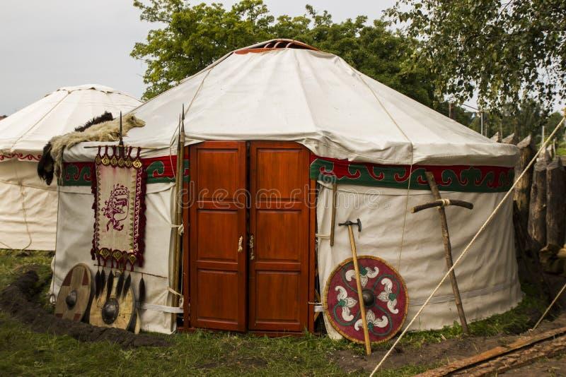 Лагерь Viking стоковое фото rf