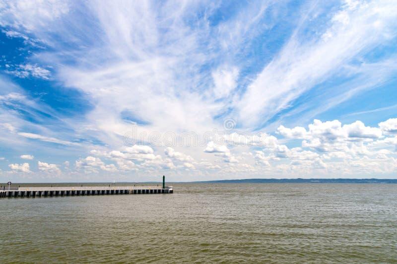 Лагуна Вислы известная как залив Вислы или залив Вислы в Kryni стоковое изображение